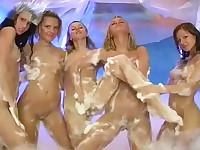 Teenage foam fun