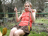 Horny teen on the playground