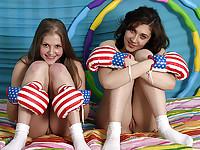 Lesbians playing
