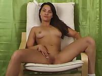 Teen girl showing her body off