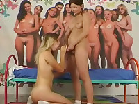 Two teen girls and a dildo