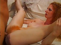 Redhead Diva with Enormous Hairy Pussy is a Real Hardcore Specialist Fucked In All Holes