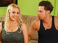 Kara is a new stepmom who was lounging around in her bra in the backyard when her stepson, John, was checking her out. John is a 19 year old raging hormone adult who finds himself watching his stepmom in the yard. They're both playing on the backyard equipment when Kara notices that John has a very nice, muscular body. She begins to seduce him by asking for his help with a workout routine. While John is helping her stretch, he notices that she has a bangin' body and things get heated. Their clothes fly off and then Kara went down to suck his cock right in the backyard. The two of them move into the house where they fuck in forbidden sex.