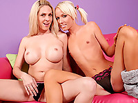 Angela And Alexia Milk A Stiff Prick