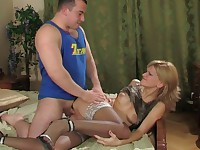 Christie and Peter anal mature in action