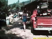 A girl arrives at a garage looking for her boyfriend. She starts having a quarrel with him, warning him to stay off the other girls. The both of them fight and she bites his hand. Then he licks her pussy and fucks her.