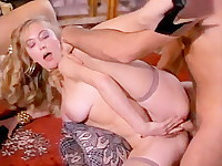 Bad girls from 1970s porn seduce their future boss