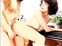 Brunette swinging on hard dick