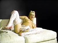 White lingerie lady sex photo set