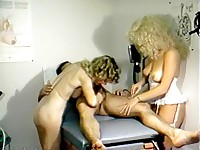 Cock treated by two sexy nurses