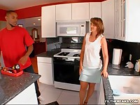 Everyday Soccer-mom gets jiggy with it with a luck black guy.