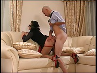 Gwendolen and John secretary pantyhose video