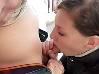 Dangerous public sex and bj to keep warm