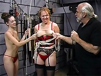 Big natural breasts are tortured and abused with ropes to the point that they turn purple