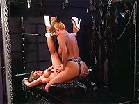 Girl slave is tickled with finger vibes
