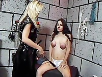 Hot Latina gets her tits tied and whipped