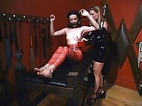 Slavegirl gets waxed and mummified