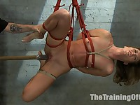 Ariel X Suffers Beautifully in Tight Bondage and Intense Torture Actors: Ariel X, The Pope
