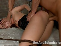 Backstage Bondage Slut: Sexy Slut used and fucked in bondage!