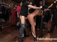 Beautiful girl gets fucked in public and covered in cum Actors: India Summer, James Deen