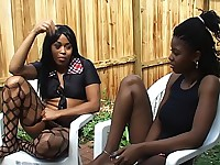 Black lesbian trio gets naughty in bed