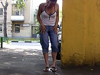 Shady street wetting