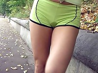 Piss-wet sexy shorts