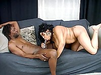 Michelle Bangs' raging hormones made her extra frisky and hooked up with this well endowed black guy. The clip begins with this pregnant ebony sucking off a thick black prick with her lips and then rolled on her back while the guy rammed it into her slit.