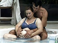 Preggo Pool Side Fuck