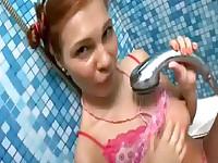 Masturbating in the shower