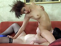 Stephanie and Inessa pussyloving mature in action