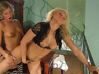 Susanna and Nora lesbian mature action