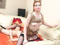 Rita and Judith mature in lesbian action