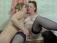 Viola and Megan lesbian mature video