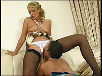 Bridget and Sheila pussylicking mature on video