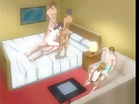 I wouldn't recommend you to pass by these turning on hentai scenes in which the insatiable female gets damn wild and crazy and feels a kind of ecstasy when being on three cocks simultaneously.