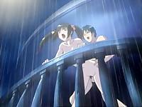 Cute gal loses virginity under the rain