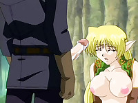 Pretty hentai elve fucked by human cock