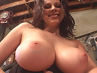 She has some amazing big voluptuous knockers whose nipples she can lick!