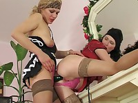 Irene and Kathleen hot anal lesbian action
