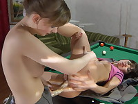 Mireille and Dorothy nasty anal lesbian action