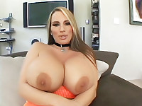 Blonde MILF Flashes Her Big Tits