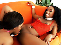 Kianna Jayde and Strokahontas are horny ebonies with insatiable craving for a good fuck. They're both pretty and endowed with big black hooters and succulent looking round bums. Watch them get it on and treat their sweet spots with heaps of dildo ramming.