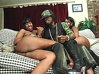 Leyah Jackson and Stallion are pretty babes with big tits and massive booties. Watch them flaunt it and play with it to attract a well hung stud and put him in the mood to give them both some pussy pleasure and tight ass knobbing and a creamy facial.