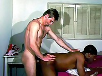 Black Gay Taking It From a White Stud