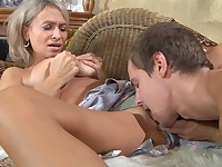 Ninette and Robin naughty mom on video