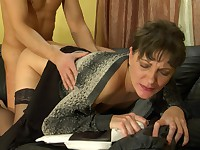 Mature hottie Linda caught her lusty toy boy neighbor Connor when he was vulnerable and tosses that nasty mature cunt of hers at him.  She took advantage of the situation and cornered him and teased him with her nasty mature cunt that she knew he wanted to stuff his stone rigid dick into.  This nasty mature slut took all of his thick meaty member into moistened sweet pussy and let him fuck her doggystyle from behind until he couldn't hold his cum in any longer and he busted a juicy nut into his mature fuck lover's twat.