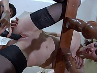 Beatrice and Mireille nasty lesbian action