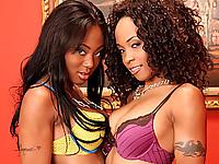 Ebony Lesbians Sucking Shaved Snatch