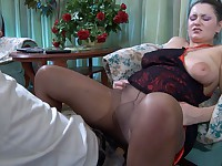 Emily and Benjamin mature pantyhose video